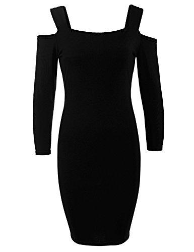 cooshional - Robe - Dos ouvert - Femme Noir