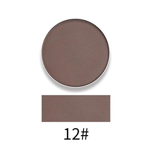 TPulling 12 Farben Exquisit Monochrome Perlenaugenschatten Perle Lang Anhaltende bunte Lidschatten Augen Schatten Presse Powder Kosmetik Make-up (L)