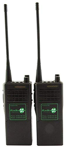 Kenwood TK350 Uhf 4 Watt Walkie-Talkie Walkie-Talkies & G Form Hörmuscheln X 2