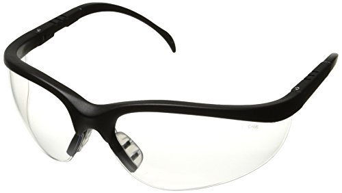 klondike-black-frame-clear-lens-safety-spectacle