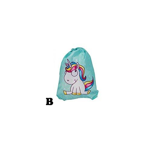 Sportbeutel EINHORN Freizeit Tasche Rucksack mit Motiv - eul011 Beutel B