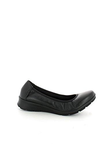 Ballerina in pelle nera flessibile N. 37