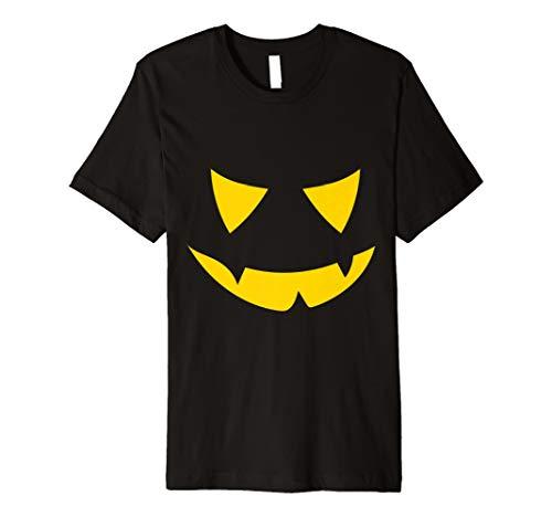 Glowing Pumpkin Face Halloween Shirt geschnitzt Jack O ()