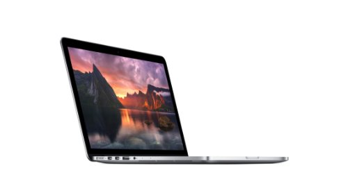 Apple MacBook Pro with Retina Display 13-inch Laptop (Intel Dual Core i5 2.4 GHz, 4 GB RAM, 128 GB HDD, Iris Graphics, OS X) - Silver - 2013 - ME864B/A - UK Keyboard