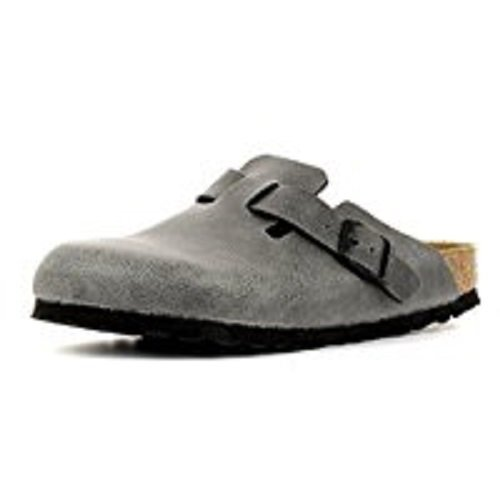 Birkenstock Boston Birko-Flor Clogs schmal pull up anthracite - 45