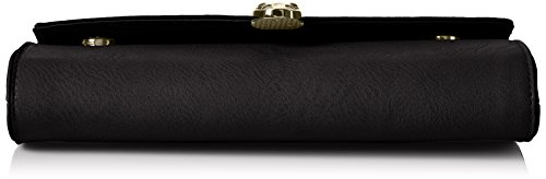 Swanky Swans - Bali Snakehead Leather Clutch, Pochette da giorno Donna Nero (Black)