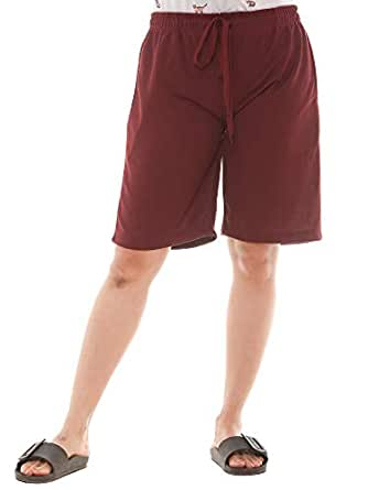 EASY 2 WEAR ® Womens Jersey Shorts (Size S to 4XL) Loose and Long FIT.