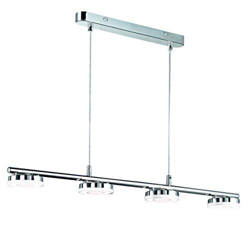 Reality Leuchten Pendelleuchte, 4x 4 W SMD-LED inklusive, Länge 77 cm, Höhe 120 cm, chrom R32414106