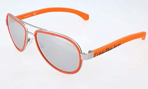 Calvin klein jeans sonnenbrille ckj463s 011-55-17-140 occhiali da sole, arancione (orange), 55.0 uomo