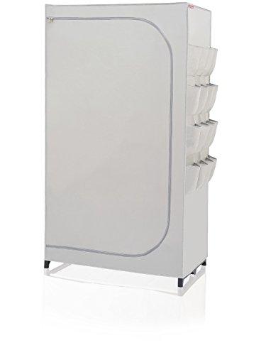 Leifheit Kleiderschrank Flex, Stoff, grau, 50 x 90 x 160 cm