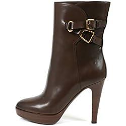Ralph Lauren, Damen Stiefel & Stiefeletten , Braun - Marrone - Größe: 38