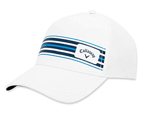 Callaway Stripe Mesh Casquette De Baseball, Blanc...