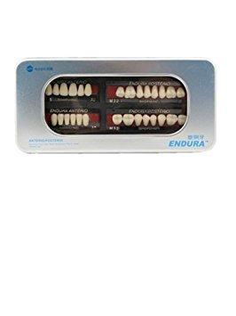 Autek 1 Box / Falsch setzen neue Dental Zahn-Zahn-Prothesengröße M32 A2 Farbe 28-pc Zähne