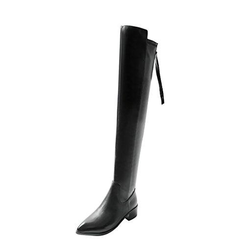elehot-femme-elephone-number-bloc-4cm-souple-bottes-noir-38