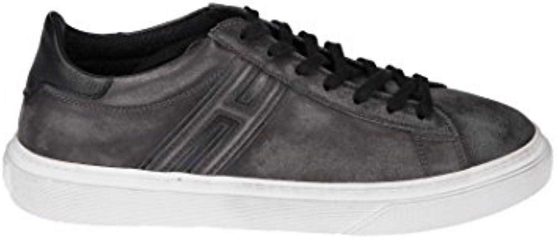 Hogan Herren HXM3400J310HT70XF9 Grau Leder Sneakers