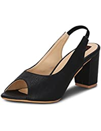 Get Glamr Women's Black Sandals - B072F33G1Z