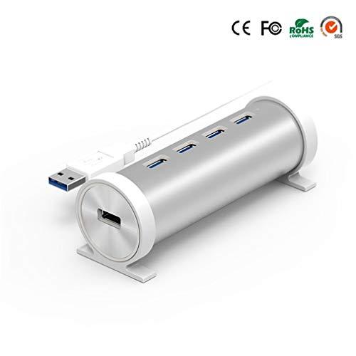 ZYX 4 Port USB 3.0 Hub mit Ein/aus Schalter der USB Hub 5 GBPS High Speed Für Desktop Laptop DC,Silver