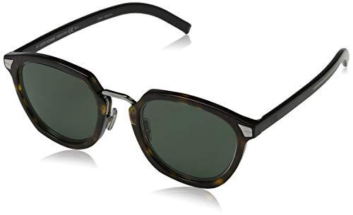 Dior diortailoring1 qt 086 occhiali da sole, marrone (dark havana/green), 49 uomo