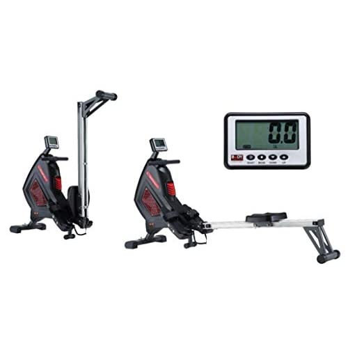 31JwUtErbDL. SS500  - Body Sculpture BR2712 Air Rower | Adjustable 8 Level Air Resistance | Cooling Fan | Smartphone Dock | Track Your Progress | More