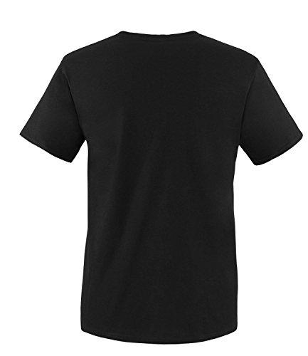 Luckja Herren T-Shirt mit Rundhalsauschnitt im 5 er Pack in verschiedenen Farben und Größen Schwarz