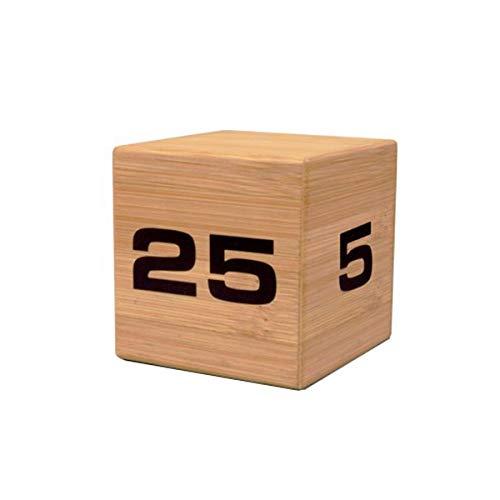 Datexx Time Cube Der Wunder-Zeitwürfel mit 5, 10, 20 und 25 Minuten für das Zeitmanagement - Küchen-Timer - Hausaufgaben-Timer - Trainings-Timer - Meeting-Timer | Bamboo (Zeit-cube-uhr)