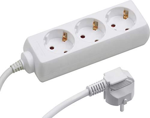 Meister Steckdosenleiste 3-fach - 5 m Kabel - weiß - Kunststoffleitung - IP20 Innenbereich / Steckerleiste / Mehrfachsteckdose / Tischsteckdose / Tido 3-fach / 7430250
