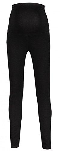 Happy Mama. Para mujer premama leggings banda elástica para la barriga. 975p (Negro, EU 38, M)