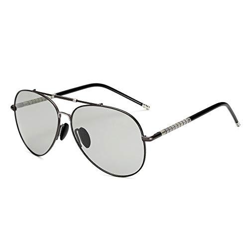 Gläser Classic Trend Polarized Sonnenbrillen Mode Lässig Metall Fahrspiegel Sonnenbrillen Brillen (Color : 01Dark Sliver, Size : Kostenlos)