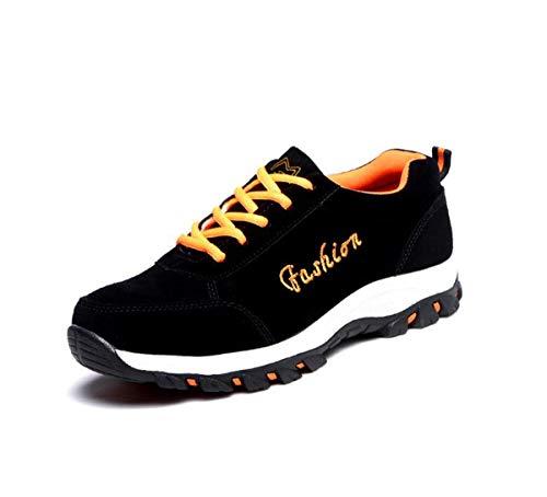 s Womens Sicherheitstrainer Schuhe Komfort-Sneakers Stahl-Toe Cap Arbeit Schuhe Leichtgewicht Ankle Trainer Mittelsohle Schutz,A,37EU ()