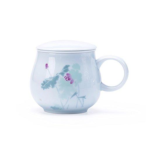 TIANLIANG04 Becher Kaffeetassen Keramik Tasse Tee Mit Einer Tasse Abdeckung Filtration Becher Büro...