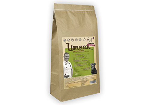 Dr. Berg URFLEISCH Lamm & Kartoffel - Getreidefreies, hypoallergenes Hundefutter - Trockenfutter mit viel FRISCHFLEISCH - extra verträglich und lecker durch natürliche Zutaten (10 kg)