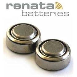 RENATA Lot de 10 Blisters de 1 Pile bouton oxyde argent X364 SR621SW