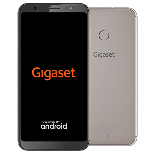 Gigaset GS185 Smartphone ohne Vertrag (4000mAh Akku, 16GB Speicher, 2GB RAM, 4G LTE, (5,5 Zoll) HD+ 18:9 Display, Android 8.1) Made in Germany, cognac