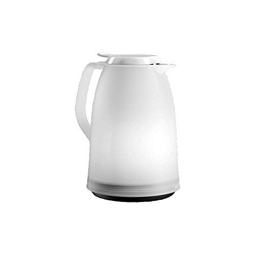 Emsa 514507 Isolierkanne, 1 Liter, Quick Tip Verschluss, 100% dicht, Weiß, Mambo