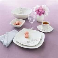 luminarc e3968 songe service de table 6 assiettes 6 creuses 6 desserts 6 tasses 6 sous. Black Bedroom Furniture Sets. Home Design Ideas