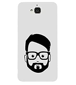 FUSON Caucasian Man Face Polygonal 3D Hard Polycarbonate Designer Back Case Cover for Huawei Honor Holly 2 Plus :: Huawei Honor 2 Plus