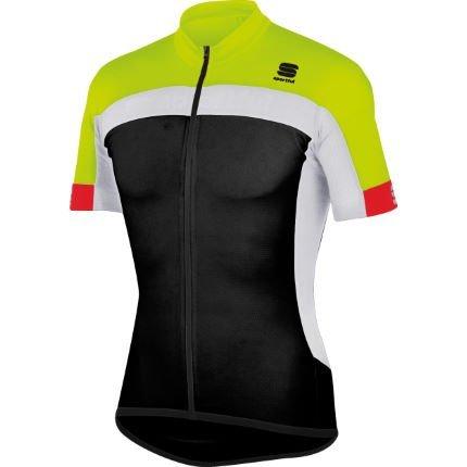 Sportful Maillots Pista Long Zip Black/Yellow/White M