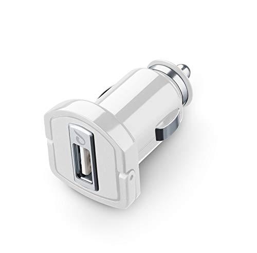 cellularline Microcbrusbiphw USB Carica Batteria Auto Micro velocità Massima-Bianco