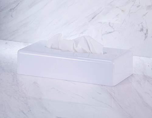 VINN DUNN Tissue box, Rechteck Gesichts Gewebs Spender Halter Kleenex flache Serviette Spender für Bad Vanity Countertops (weiß )