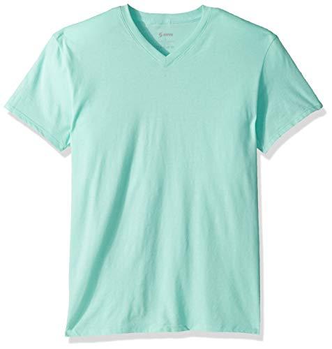 Soffe Herren CVC Short Sleeve V-Neck Tee T-Shirt, Seladongrün, XX-Large - Cvc V-neck Tee