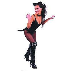3 teiliges schwarzes Katzen Set für (Kostüme Katze Schwarze Erwachsene Halloween)