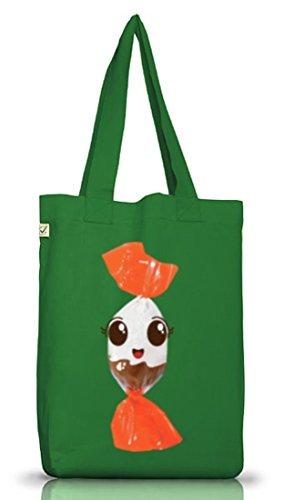 el Tragetasche süßes Schokolade BonBon Partner Kostüm für Fasching Karneval für Naschkatzen, Größe: onesize,Moss Green (Lustige Partner Halloween Kostüme)