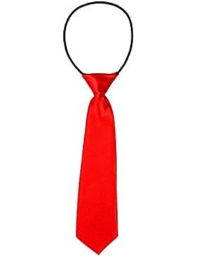 DonDon Corbata para niños con aire de seda y con elástico brillado 2-7 años - en diferentes colores
