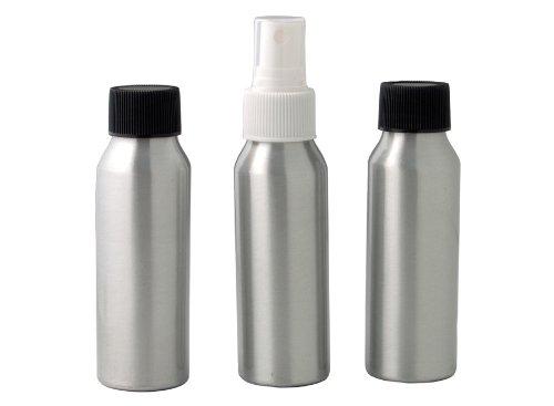Set de 3 flacons de voyage aluminium