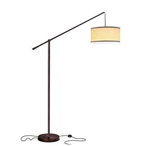 Standleuchten Stehleuchte LED Stehlampe Wohnzimmer Arc Stehleuchten for hinter der Couch Pole Light hängen über den Sofa Schlafzimmer Stand Up Büro Standing Stehleuchten H70inchs