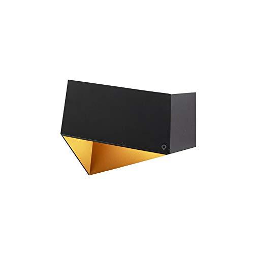 QAZQA Design Applique murale Fold noir et or Aluminium Noir,Doré Autres G9 Max. 1 x 40 Watt/Luminaire/Lumiere/Éclairage/intérieur/Salon/Cuisine
