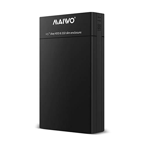 Heaviesk K25682 2,5 Zoll Dual Bay HDD SSD Slim Enclosure USB3.0 Speicher Externe Festplatte für Desktop- und Laptop-Festplatte -