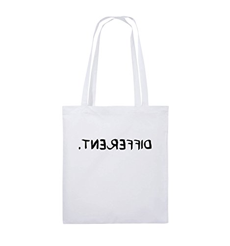Borse A Tracolla - Diverse - Specchiate - Borsa Di Juta - Manico Lungo - 38x42cm - Colore: Nero / Rosa Bianco / Nero