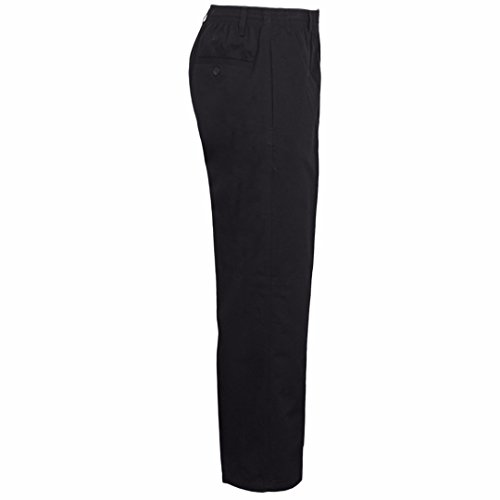 MyShoeStore Mens Smart Rugby Trousers Fully Elasticated Stretch Waist Band With Draw Cord Comfortable Fit Workwear Bottoms Straight Leg Casual Formal Work Pants Size 30-48(Black,48/27)