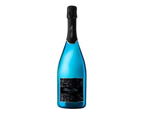 Pasion Blue - Brut Nature Blue - Vin bleu Effervescent Pétillant Méthode Champenoise - Parfait pour l'Aperitif - 12° - 75 cl